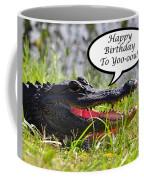 Alligator Birthday Card Coffee Mug