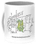 Alligators Riding The Subway Coffee Mug