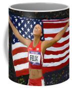 Allison Felix Olympian Gold Metalist Coffee Mug