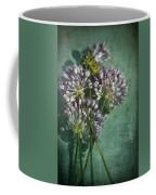 Allium Wildflower With Grunge Textures Coffee Mug