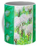 Almond Trees And Leaves Coffee Mug