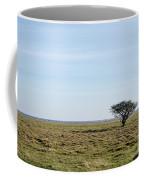 Alone Tree At A Coastal Grassland Coffee Mug