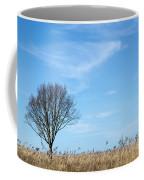 Alone Tree In The Reeds Coffee Mug