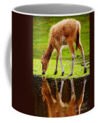 Along The Water Grazing Pere David's Deer Coffee Mug