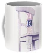 Alphabet Blocks Chair Coffee Mug