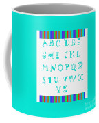 Alphabet Blue Coffee Mug