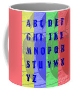 Alphabet With Apples Coffee Mug