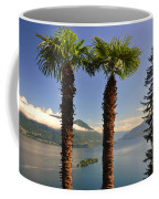 Alpine Lake With Island Coffee Mug