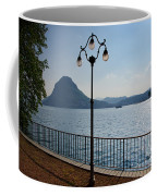 Alpine Lake With Street Lamp Coffee Mug