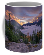 Alpine Lakes Morning Cloudscape Coffee Mug