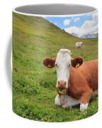 Alpine Pasture With Cow Coffee Mug