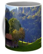 Alpine Summer Scene In Switzerland Coffee Mug