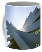Aluminum Sculpture Detail Coffee Mug