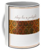 Always Kiss Me Goodnight Gold Coffee Mug
