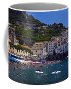 Amalfi Beach And Town Coffee Mug
