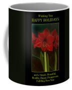 Amaryllis Flower Holiday Card Coffee Mug