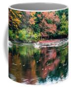 Amazing Fall Foliage Along A River In New England Coffee Mug