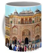 Amber Fort Entrance To Living Quarters - Jaipur India Coffee Mug