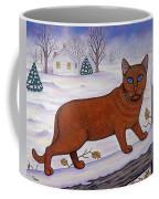 Amber On White Coffee Mug