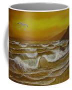 Amber Sunset Beach Seascape Coffee Mug