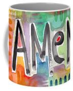 Amen Greeting Card Coffee Mug