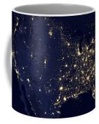 America At Night Coffee Mug