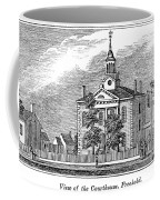 American Courthouse, 1844 Coffee Mug