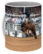American Cowboy Riding Bucking Rodeo Bronc I Coffee Mug