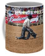 American Cowboy Thrown From A  Bucking Rodeo Bronc Coffee Mug