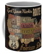 American Dream-route 66 Coffee Mug