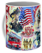 American Firefighters Coffee Mug by Andrew Read