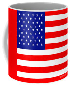 American Flag . Square Coffee Mug