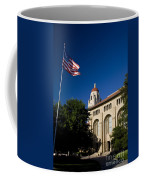 American Flag And Hoover Tower Stanford University Coffee Mug