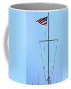 American Flag On Mast Coffee Mug