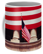 American Flag On The Front Coffee Mug