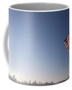 American Flag San Francisco Skyline Coffee Mug