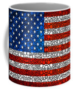 American Flag - Usa Stone Rock'd Art United States Of America Coffee Mug