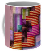 American Flags Coffee Mug by Tony Rubino