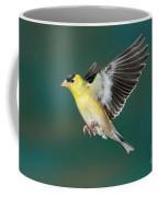 American Goldfinch Male-flying Coffee Mug