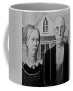 American Gothic In Black And White 1 Coffee Mug