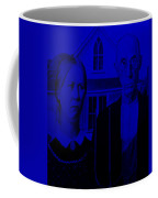 American Gothic In Blue Coffee Mug