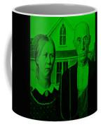 American Gothic In Green Coffee Mug