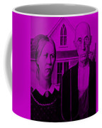 American Gothic In Purple Coffee Mug