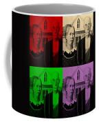 American Gothic In Quad Colors Coffee Mug