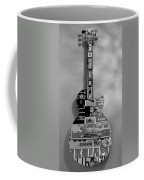 American Guitar In Black And White Coffee Mug