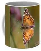 American Lady Butterfly Coffee Mug