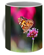 American Painted Lady Butterfly Pink Coffee Mug