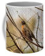 American Robin On A Branch Coffee Mug