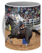 American Rodeo Female Barrel Racer Dark Horse II Coffee Mug