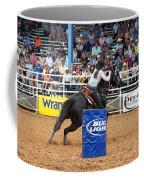 American Rodeo Female Barrel Racer Dark Horse Iv Coffee Mug